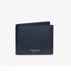Michael kors Crossgrain Leather Slim BiFold Wallet